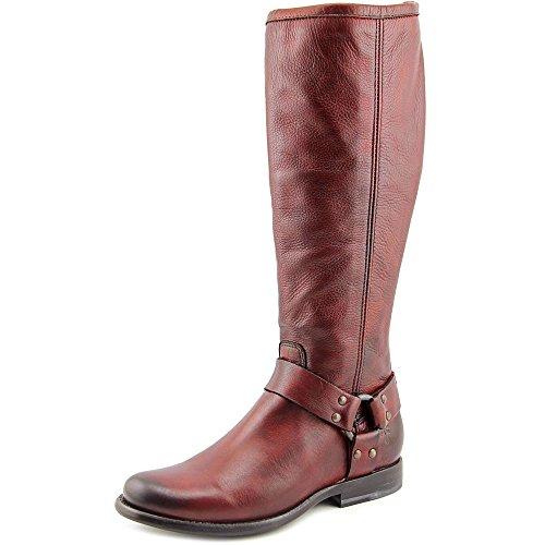 Frye Women's Phillip Harness Tall Boot - Burnt Red Soft V...