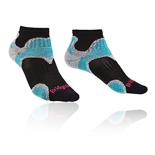 Bridgedale Women's Ultra Light T2 Trail Sport - Merino Cool Comfort Socks, Black, Small ()