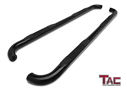 "TAC Side Steps for 2009-2018 Dodge Ram 1500 Crew Cab / 2010-2018 Dodge Ram 2500 / 3500 / 4500 / 5500 Crew Cab Truck Pickup 3"" Black Side Bars Nerf Bars Running Boards"
