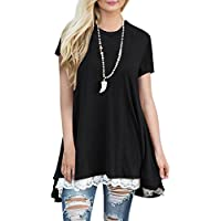 BELAMOR Women's Short & Long Sleeve A-line Flowy Tunic Tops (US 4-22)