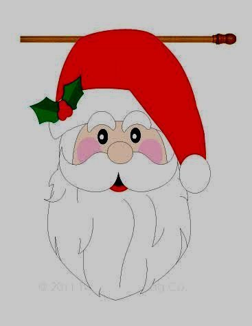 (Breeze Decor Large Santa Claus Head, Striking, Sculputred Garden House Flag, 28 x 44, Reads Right Both Sides)