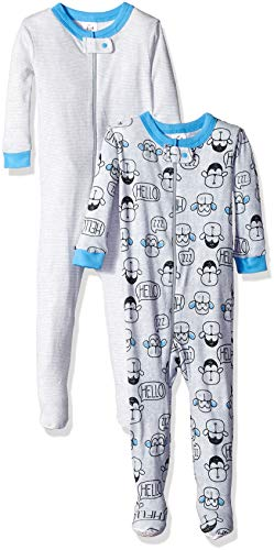 Gerber Baby Boys' 2-Pack Footed Unionsuit, Monkey, 12 Months