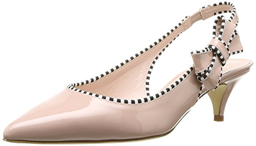 Kate Spade New York Women's Ollie Heeled Sandal, Pale Pink Patent, 7 Medium US by Kate Spade New York