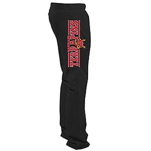 ElishaJ Men's University Of Maryland Cool Workout Pant Black XXL
