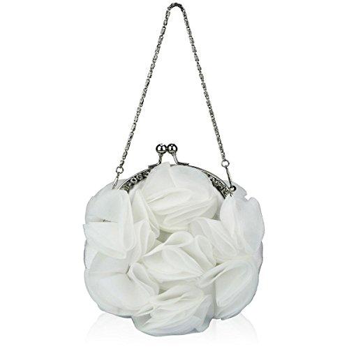 Bag Prom Ivory Clutch Evening Floral Ladies New Party Zarla Diamante Flower Women Bridal Baguette 2 ywqt8Ixq47