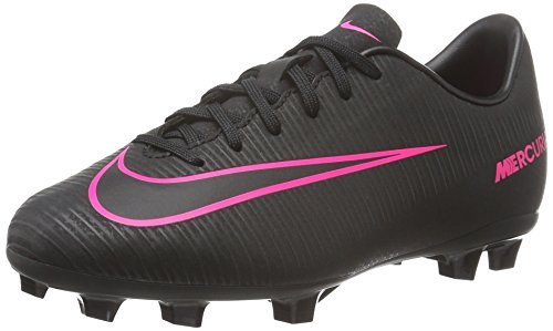 Nike Jr. Mercurial Vapor XI FG Soccer Cleat (4.5Y) Total Crimson, Black (Nike Mercurial Jr Grip)