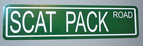 METAL STREET SIGN SCAT PACK (440 Green Runner)