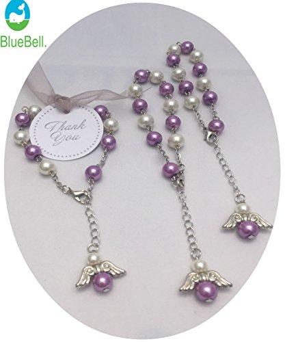 15 pcs PURPLE ANGEL Party Favor Bracelets ( Purple ). (Bead Angels Party)