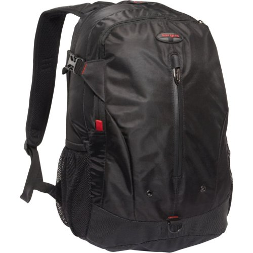 Targus Terra Backpack Designed for 16-Inch Laptops – TSB226US (Black/Red Accents), Bags Central