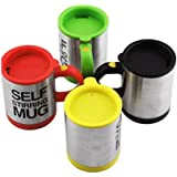 BUYERZONE WITH BZ LOGO Self Stirring Coffee Mug (Multicolour)