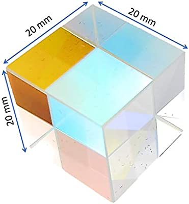 for Teaching of Optics and Photo Effects with Gift Box Set of 2 Optical Prisms 6 inch // 150 mm Glass Equilateral Triangular Prism and 20 mm Glass Cube Prism