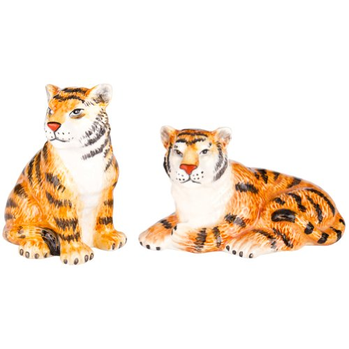 African Safari Tigers Big Cat Salt & Pepper Shakers S/P]()