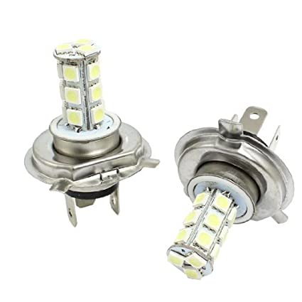 Amazon.com: eDealMax 2 PC H4 18 SMD Blanco 5050 del carro LED del coche de Foglight foco de repuesto: Automotive