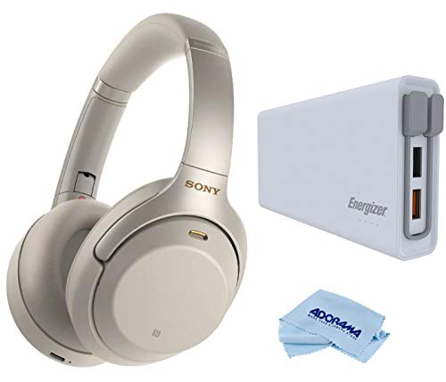 Sony WH-1000XM3 Wireless Noise-Canceling Over-Ear Headphones Kit, Silver