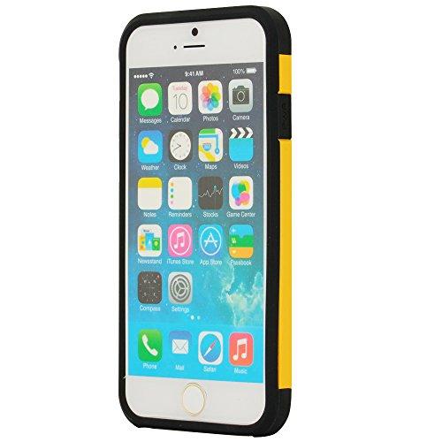 N72- TPU Backcover für Apple iPhone 6 ( 4,7 Zoll ) Bumper Schutzhülle in Gelb