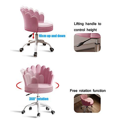 Kontorsskrivbordsstol 360° svängbar datorstol sammet exekutive ergonomisk stol för kontor hem, vardagsrum, sitthöjd: 40-50 cm