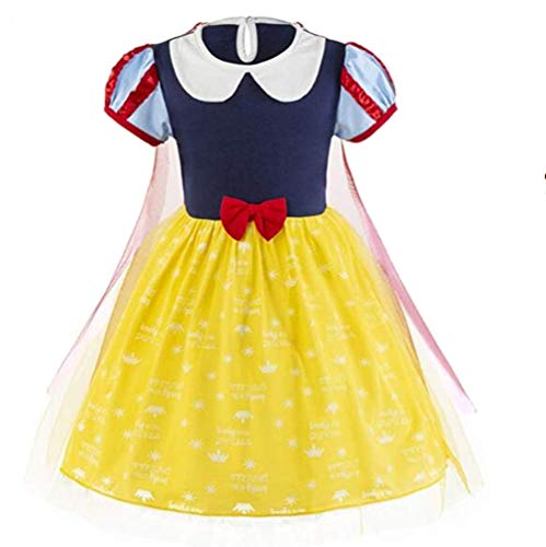 Tsyllyp Little Girls Snow White Dress Cosplay Tutu Costumes -