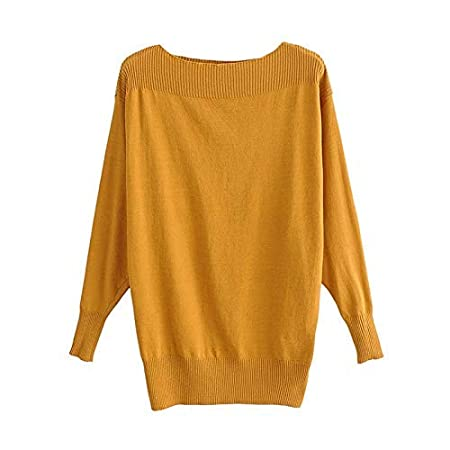 9bb21182209 XINSU HOME Retro Semi-Perspective Knit Tops Women S Fashion Clothes Slashes  Wide Ribbed Slinky Casual