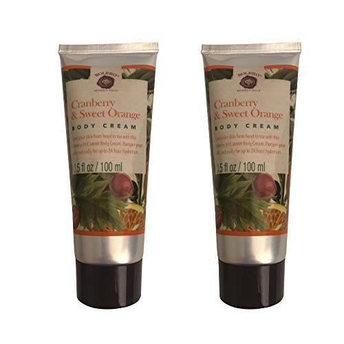 Moisturizing Body Cream- Cruelty Free, No Artificial Dyes or Parabens- Pack of 2 (Cranberry and Sweet Orange)
