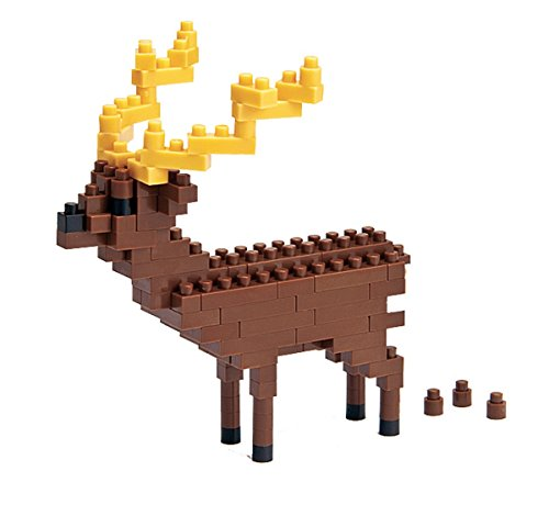 Nanoblock 58513927 Sika Deer Design 3D Jigsaw Puzzle, Mini Collection, Difficulty Level 2 Medium - 140 -