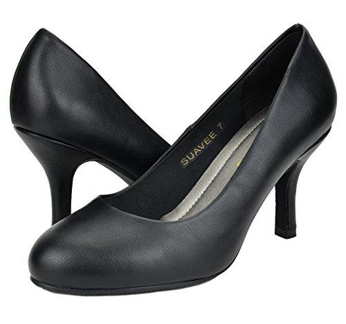 DREAM Low Women's Heel PAIRS Black Pumps Pu UEwUfvrqx