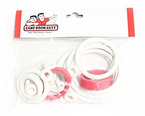 (Game Room Guys Bally Night Rider Pinball White Rubber Ring Kit)