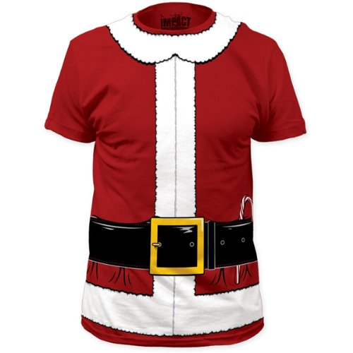 Impact Originals Santa Claus Mens Red Costume T-Shirt (XX-Large, Red)]()