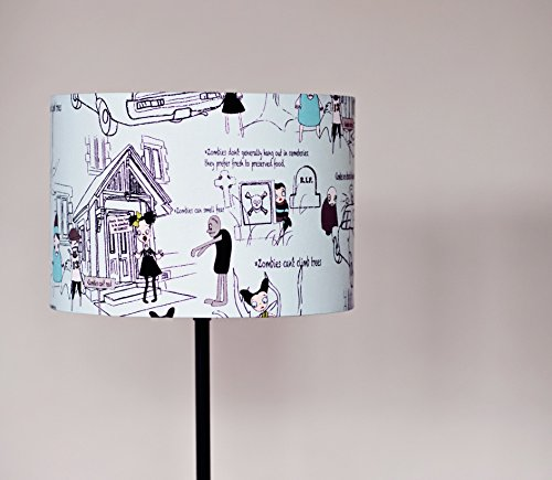 Zombie Lampshade, Zombie Apocalypse, Lampshade, Quirky home décor, The Walking Dead, Drum Lampshade, Halloween