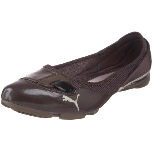 PUMA Womens Saba Ballet Flat Bracken Brown/Oatmeal/Fossil L2uEj9tP6t