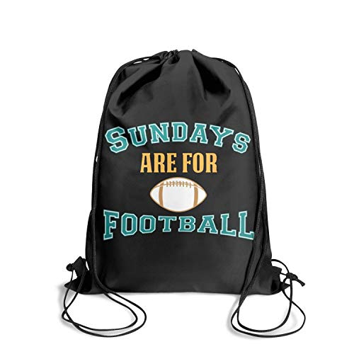 Happy-life Drawstring Sundays are for footballathletic Breathability Crazy Drawstring Bags