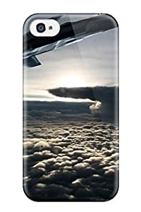 Iphone 4/4s Case Cover - Slim Fit Tpu Protector Shock Absorbent Case (jet Fighter)