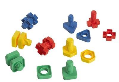 Edushape Ez-Grip Nuts and Bolts 48 Piece Development Toy by Edushape