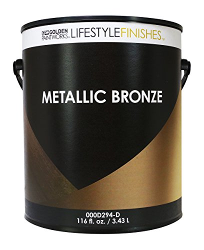 Golden Bronze Tone Finish - Golden Lifestyle Finishes Metallic Bronze Paint (Gallon)