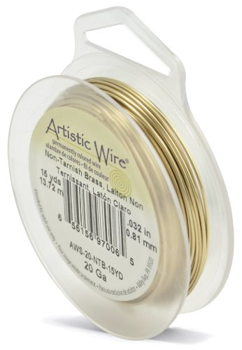 Artistic Wire 20-Gauge Non-Tarnish Brass Wire, 15-Yards