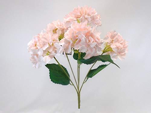 JumpingLight Hydrangea Bush 5 Heads Artificial Silk Flowers 19'' Bouquet 1938 BPK Artificial Flowers Wedding Party Centerpieces Arrangements Bouquets Supplies