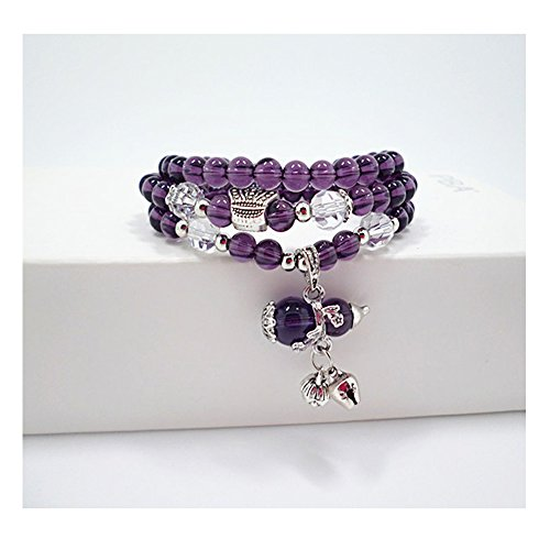 Yuriao Jewelry Elegant Fashion Purple Crystal Gourd Stretch (Viva Nyc Halloween)