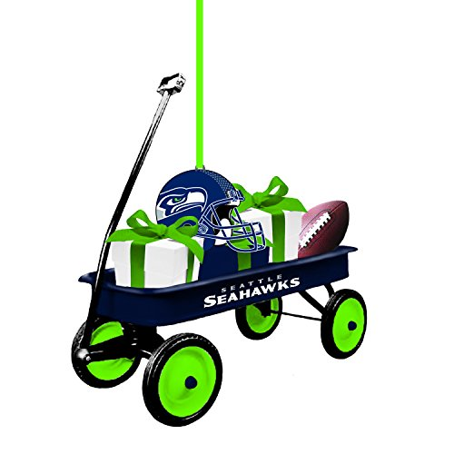 Team Sports America 3OT3827WGN Seattle Seahawks Team Wagon Ornament