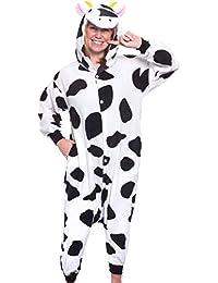 Unisex Adult Pajamas - Plush One Piece Cosplay Cow Animal Costume