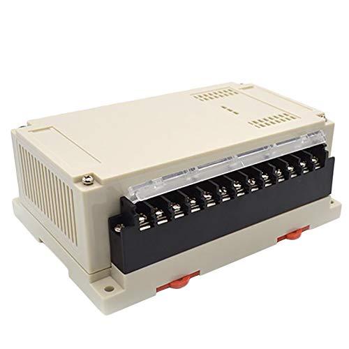 TOOGOO 1 Piece Electronics Enclosure Din Abs Plastic Project Enclosure Control Case Rail Din Connectors Box