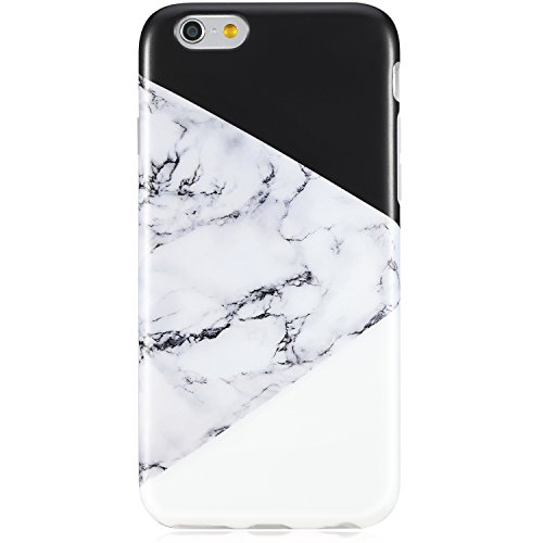 iPhone 6 Case,iPhone 6s Case,VIVIBIN Cute Black and White Marble for Men Women Girls Kids Clear Bumper Best Protective Soft Silicone Rubber Matte TPU Cover Slim Fit Phone Case for iPhone 6/iPhone 6s