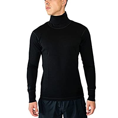WoolX Men's Turtleneck Shirt - Midweight Merino Wool Base Layer