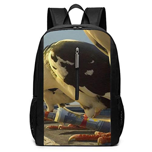Glovesdkhh Birds Money Photoshop Pigeons Laptop Backpack, 17-inch Laptop Backpack for High School Or College