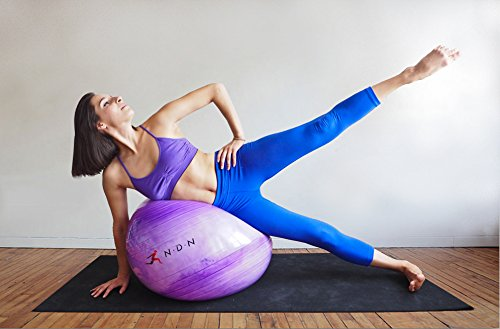 NDN-LINE-Purple-Exercise-Ball-Gym-Ball-Swiss-Ball-Stability-Ball-Fitness-Pilates-Ball-for-Women-Pump-Included