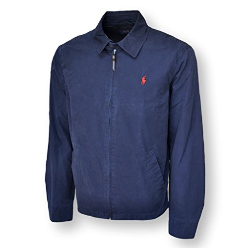 Polo Ralph Lauren Mens Landon Cotton Poplin Windbreaker Jacket, Aviatr Navy, L
