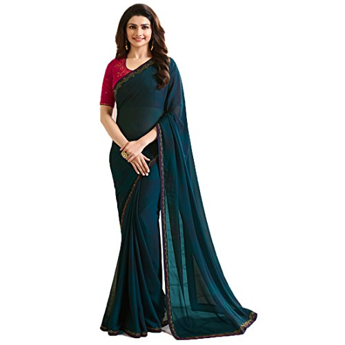 ❥ Dilse Fashion Designer Partywear Rangoli Silk Saree for Women's with Unstitched Blouse Saree 1