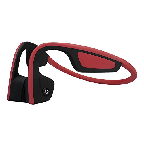 Bone Conduction Headphones Bluetooth Wireless with Mic, Open Ear Light & Durable for Outdoor Sports and Fitness (Red) Best Inner Ear Headphones