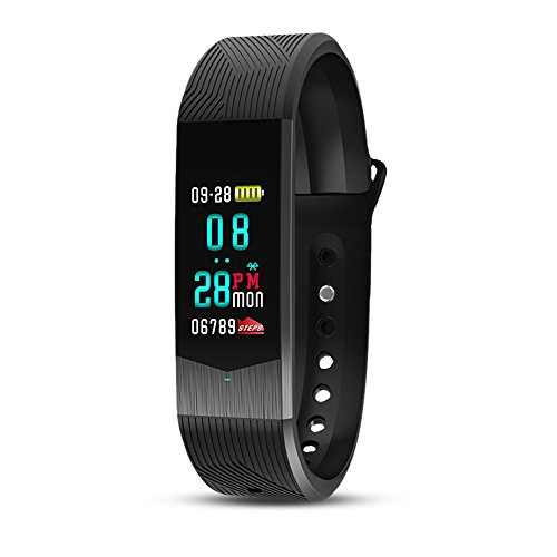 (Fitness Tracker, SKMEI Fitness Watch, Colorful Touch Screen Heart Rate Blood Pressure Pedometer Calorie Distance Sleep Stopwatch Countdown Waterproof for Android iPhone)