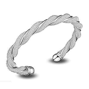 7012f029c1a1 Lingstar SG925 - Pulsera para mujer (plata maciza)  Amazon.es  Joyería