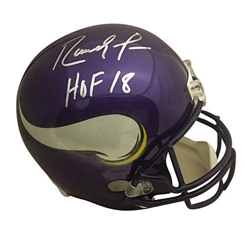 - Randy Moss Autographed Minnesota Vikings Hall of Fame HOF 18 Signed Football Helmet JSA COA