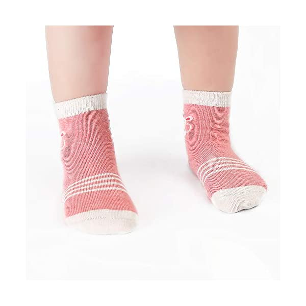 Cotton Coming Rosa Cotone Bambina Neonata Calzini ,9 Paia Carino Bambino Calzamaglie Neonata, Calzini per bambina 6